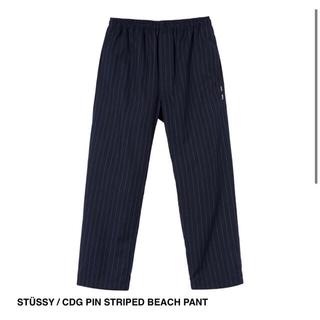ステューシー(STUSSY)のSTUSSY CDG PIN STRIPED BEACH PANT ギャルソン (その他)