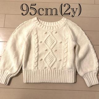 babyGAP - 【美品】GAP ホワイト アイボリー セーター 2years(95cm)