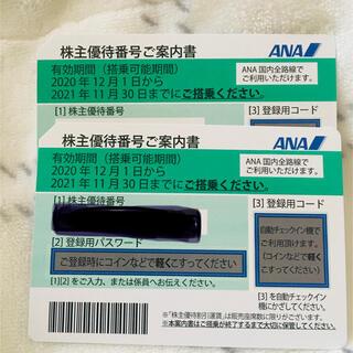 エーエヌエー(ゼンニッポンクウユ)(ANA(全日本空輸))の値下げしました★ANAの株主優待券2枚です。期限は2021年11月30日まで(航空券)