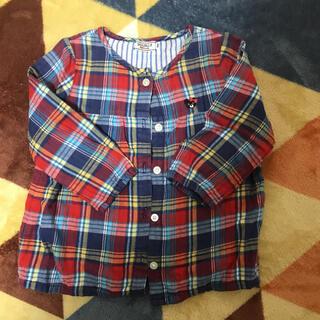 ダブルビー(DOUBLE.B)のダブルビー チェックシャツ 100センチ(Tシャツ/カットソー)