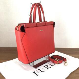 フルラ(Furla)の極美品 フルラ レッド系 ハンドバッグ ショルダーバッグ 205(ハンドバッグ)
