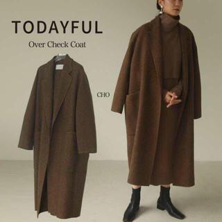 トゥデイフル(TODAYFUL)の36サイズ TODAYFUL オーバーチェックコート CHO 正規品(ロングコート)