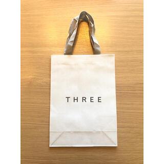 スリー(THREE)の新品未使用☆THREE スリー ショッパー紙袋(ショップ袋)