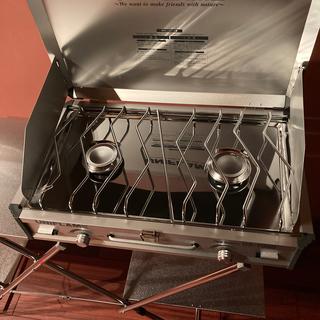 ユニフレーム(UNIFLAME)の値下げ!!ユニフレーム ツーバーナー+キッチンスタンド2(調理器具)