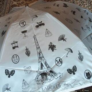 LADUREE - ☆新品タグ付■ラデュレ チャーム付軽量折りたたみ傘 雨傘¥11000