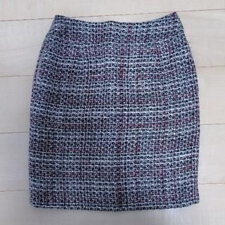 ヴィス(ViS)のvis ツイードスカート(ひざ丈スカート)
