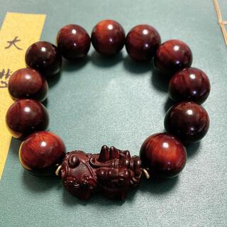 天然高密度小叶紫檀の仏珠.数珠.ブレスレット