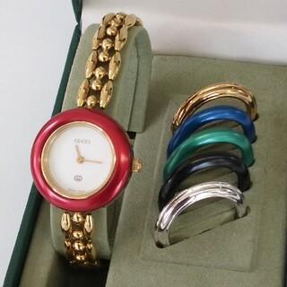 Gucci - GUCCI グッチ ヴィンテージ チェンジベゼルQZ腕時計 6色