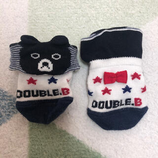 ダブルビー(DOUBLE.B)のダブルビー くまちゃん靴下 9-11(靴下/タイツ)