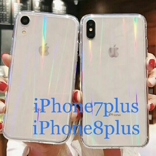 iPhone7plus iPhone8plus スマホケース クリアケース オー