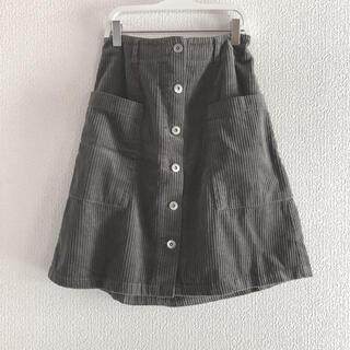 オリーブデオリーブ(OLIVEdesOLIVE)のコーデュロイスカート(ひざ丈スカート)