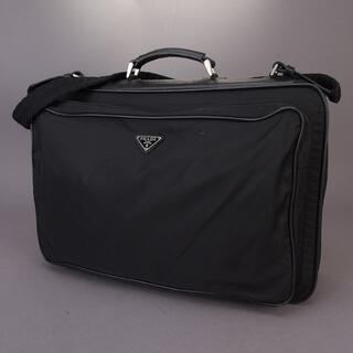 プラダ(PRADA)のレア品 PRADA プラダ ガーメントバッグ スーツケース ショルダー 黒(トラベルバッグ/スーツケース)