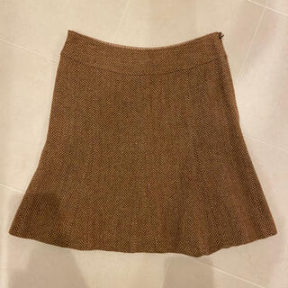ビューティアンドユースユナイテッドアローズ(BEAUTY&YOUTH UNITED ARROWS)の【クリーニング済】ツイード キャメルスカート サイズS(ひざ丈スカート)