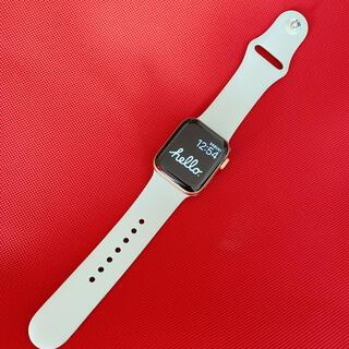 アップルウォッチ(Apple Watch)の新品apple  watch 38/40mm シリコンバンドS ライトグレー(腕時計)