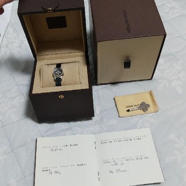 LOUIS VUITTON(ルイヴィトン)の2585ルイヴィトン タンブールビジュ ダイヤモンドクォーツ Q151K レディースのファッション小物(腕時計)の商品写真