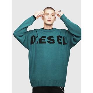 ディーゼル(DIESEL)のDiesel ニット ロゴ K-LOGOXNEW KNIT メロングリーン S(ニット/セーター)