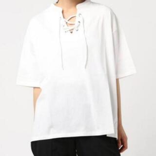 ダブルクローゼット(w closet)の!夏物処分SALE!メルロー レースアップ  Tシャツ(Tシャツ(半袖/袖なし))