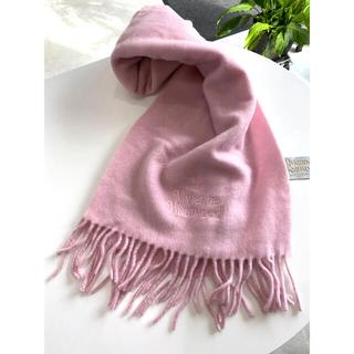 Vivienne Westwood - ヴィヴィアン ウエストウッド◆タグ付き マフラー 薄ピンク色 イタリア製