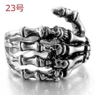 迫力抜群 髑髏 スカル ハンド リング 指輪 パンク ロック 23号(リング(指輪))