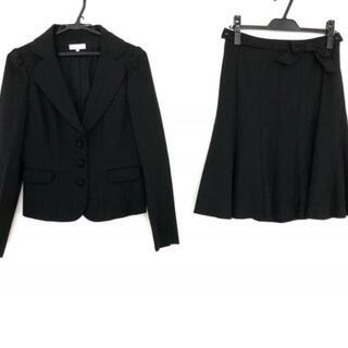トゥービーシック(TO BE CHIC)のトゥービーシック スカートスーツ 42 L 黒(スーツ)