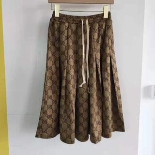グッチ(Gucci)の【GUCCI】GGテクニカルジャージースカート☆(ひざ丈スカート)