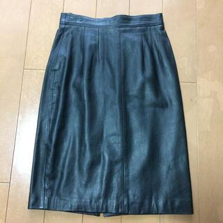 レザー スカート(ひざ丈スカート)
