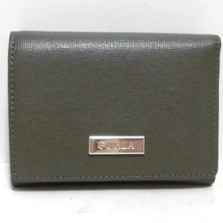 フルラ(Furla)のフルラ Wホック財布美品  - カーキ レザー(財布)