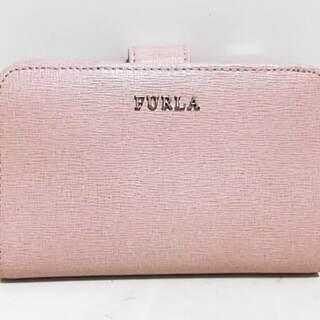 フルラ(Furla)のフルラ 2つ折り財布美品  - ピンクベージュ(財布)