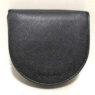 プラダ(PRADA)のPRADA(プラダ) コインケース - 黒 レザー(コインケース)
