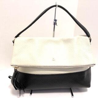 ケイトスペードニューヨーク(kate spade new york)のケイトスペード ハンドバッグ美品  白×黒(ハンドバッグ)