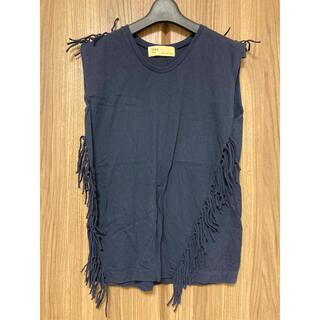 トーガ(TOGA)のTOGA ネイビーカットソー(Tシャツ(半袖/袖なし))
