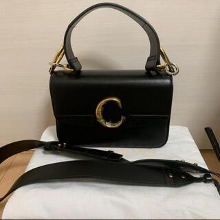 クロエ(Chloe)のchloé cスモールバッグ ブラック(ショルダーバッグ)