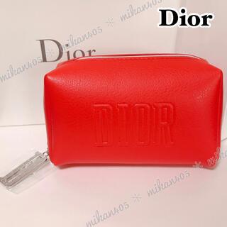 Dior - Dior ディオール ノベルティ レッド ポーチ コスメポーチ  化粧ポーチ