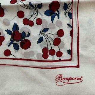 Bonpoint - 新品タグ付き ボンポワン チェリー柄 シルクスカーフ