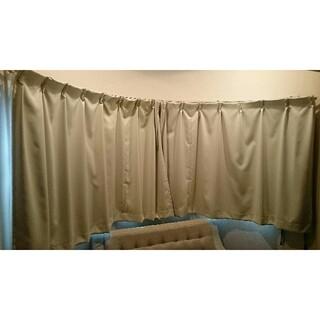 イケア(IKEA)の【一級遮光】T110~115×W150カーテン(2枚セット) ※レースカーテン付(カーテン)