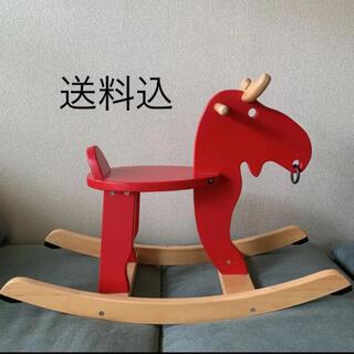 イケア(IKEA)のIKEA  木馬 赤いトナカイ クリスマス飾り(その他)