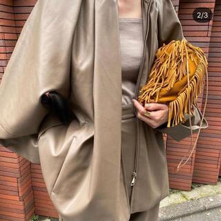 STUDIOUS - clane egg fake leather jacket