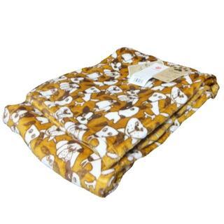ニシカワ(西川)の新品 西川毛布 タグ付き イヌ アニマル ドッグ ニューマイヤー毛布 シングル(毛布)