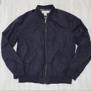 エイチアンドエム(H&M)のH&M MA-1 ブルゾン ジャケット 黒(ブルゾン)