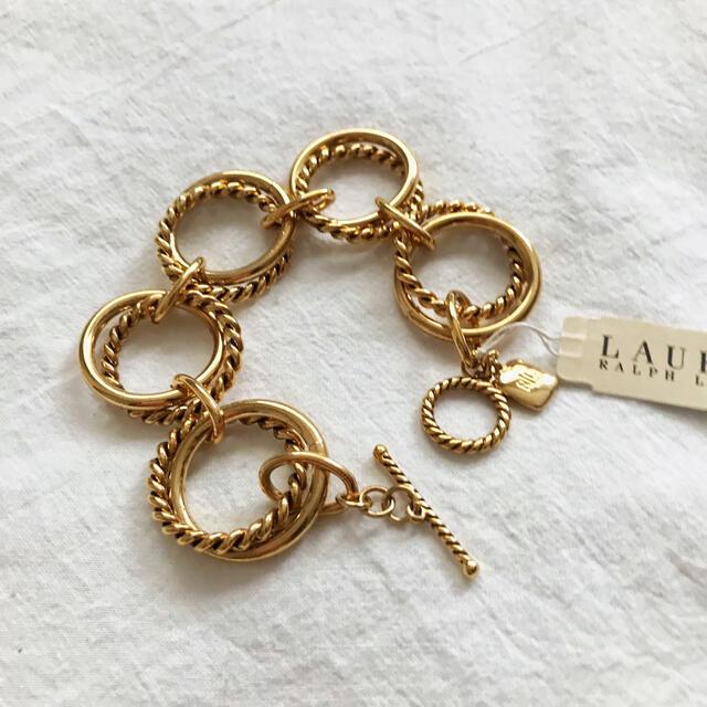 Ralph Lauren(ラルフローレン)のRalph Lauren アンティークゴールドブレスレット レディースのアクセサリー(ブレスレット/バングル)の商品写真