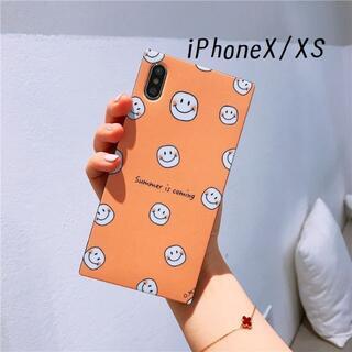 残りわずか!iPhoneX iPhoneXS にこちゃん スクエア ソフトケース(iPhoneケース)
