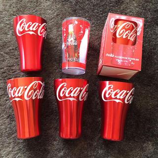 コカコーラ(コカ・コーラ)のコカコーラ グラス カップ アルミタンブラー 赤(グラス/カップ)