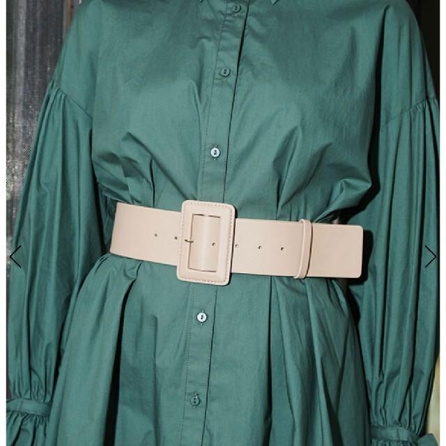 eimy istoire(エイミーイストワール)のエイミーイストワール エコレザーワイドバックルベルト レディースのファッション小物(ベルト)の商品写真