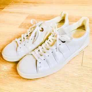 ルイヴィトン(LOUIS VUITTON)の入手困難 レア ルイヴィトン  靴 スニーカー 白 クロコ型押し レディース (スニーカー)