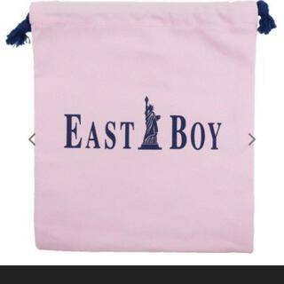 イーストボーイ(EASTBOY)の新品未使用品 EASTBOY 小物入れ巾着袋 サーモンピンク(ポーチ)