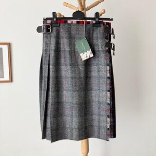 オニール(O'NEILL)の【別注新品】O'NEIL of DUBLIN 起毛ウールキルトスカート 8(ひざ丈スカート)