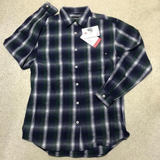 マーモット(MARMOT)の新品 レディースM マーモット ウール混 グリーンチェックシャツ(登山用品)
