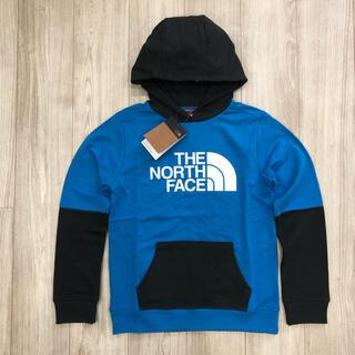 THE NORTH FACE - 【海外限定】ノースフェイス キッズ ツートン パーカー  ブルー 160cm