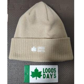 LOGOS - ロゴス LOGOS ニット帽 帽子 ベージュ 未使用 レディース
