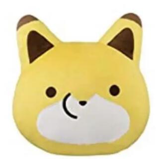 バンプレスト(BANPRESTO)のタヌキとキツネ めちゃでかキツネ 顔型ぬいぐるみクッション(ぬいぐるみ)